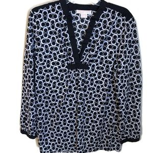 Michael Kors black and white cotton tunic large